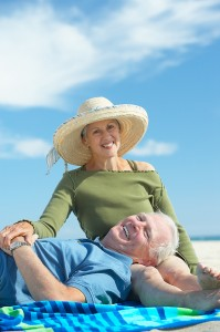 Older Couple on Beach